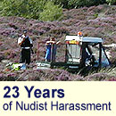 23 years of Nudist harassment at Studland