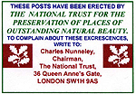 Sticker on National Trust Red Post © Studland United Nudists