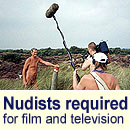 Nudists required for film, television and university projects